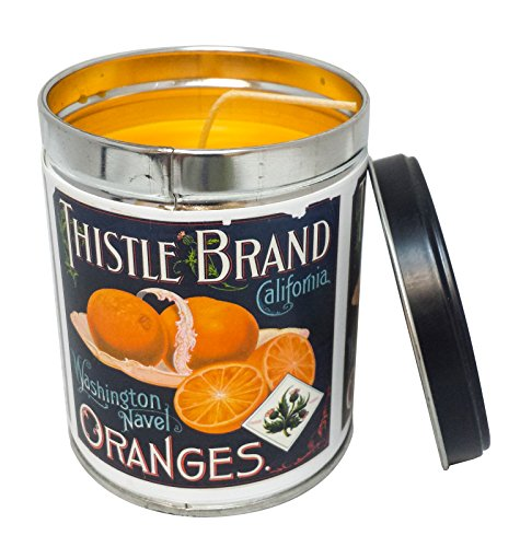 Our Own Candle Company Orange Creamsicle Scented Candle in 13 Ounce Tin with a Thistle Brand Label