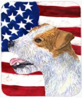 Caroline's Treasures Mouse/Hot Pad/Trivet USA American Flag with Jack Russell Terrier (SS4031MP) [並行輸入品]