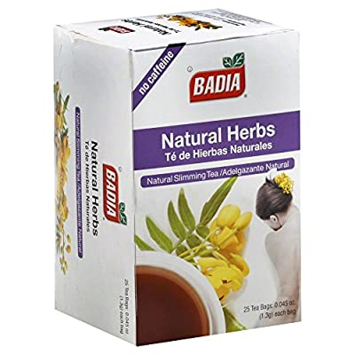 Badia Natural Herbs Tea Bags 25-Count (Pack of 6) by Badia