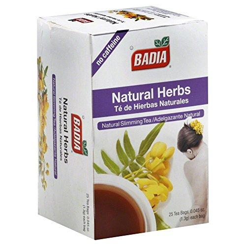 Badia Natural Herbs Tea Bags 25-Count (Pack of 6)