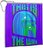 Rideau de Douche imperméable rétro Mando 3D imprimé Polyester Salle de Bain Rideaux de Douche 70 X 70 Pouces 12 Crochets en Plastique