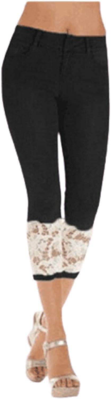 Superior Women Slim Fit Lace Edge gift High Waist Elastica Tummy Jeans Control