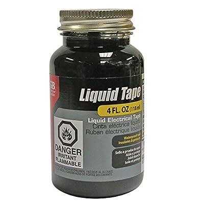 Gardner Bender LTB-400 Liquid Electrical Tape, Easy-on, Waterproof, Indoor / Outdoor Use, 4 Oz. Jar, Black