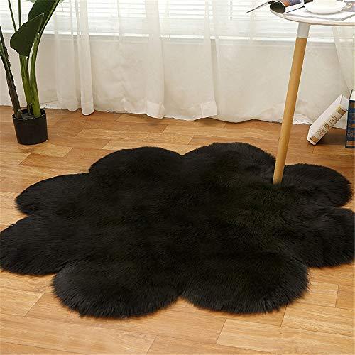 MMHJS European Style Simple Plum Shape Floor Mat Soft Non-Slip Absorbent Bedroom Carpet Suitable For Living Room Balcony Bay Window Hotel