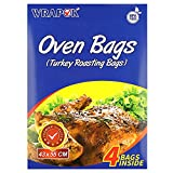 WRAPOK Cooking Bags Large Size NO BPA Turkey Roasting Kit Heat Resistant Oven bags for Chicken Meat Ham Seafood Vegetable,4 bags