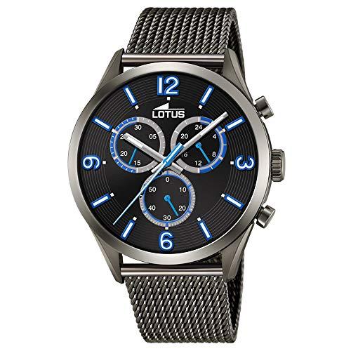 Lotus Herren Chronograph Quarz Uhr mit Edelstahl Armband 18650/1