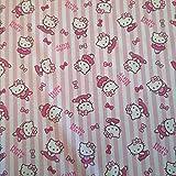 Stoff Meterware Baumwolle Hello Kitty rosa Streifen pink