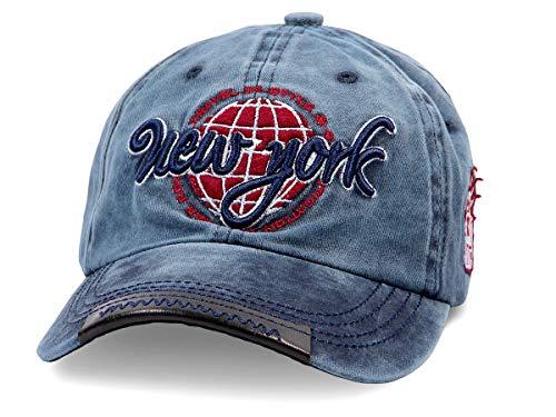 Alsino Trucker Cap Trucker-Mütze Basecap Retro Baseball-Mütze (Cap-211) - Farbe: blau, Größenverstellbar, gebogener Schirm