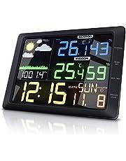 CSL – stacja pogodowa z kolorowym wyświetlaczem i czujnikiem zewnętrznym – kolorowy wyświetlacz LCD 20 cm – ciśnienie powietrza barometr temperatura, prognoza pogody, alarm z funkcją drzemki