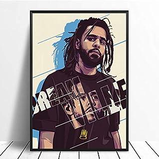 MXIBUN Cartel e Impresiones J Cole Hip Hop Rap Music Star Cuadro de Arte de Pared Lienzo Pintura Regalo sin Marco 40 * 60 cm