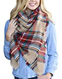 Scarfs for Women Long Plaid Blanket Warm...