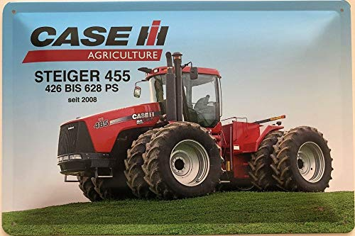 Deko7 metalen bord 30 x 20 cm Tractor Case Agriculture Steiger 455 426 TOT 628 PS sinds 2008