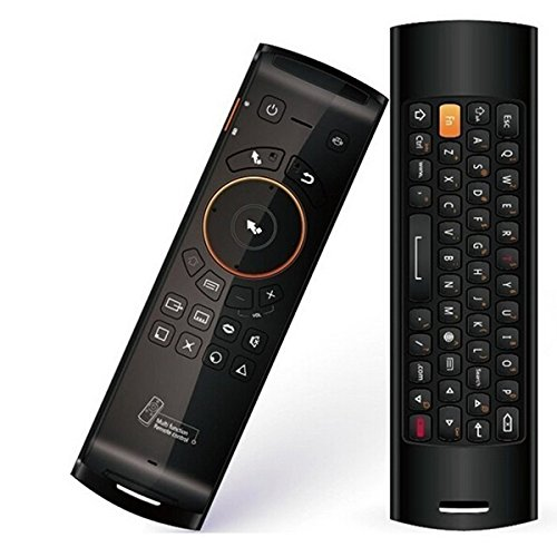 Fly Air Mouse inalámbrico QWERTY mando a distancia con teclado Mele F10Deluxe 2.4GHz Gyro funciones de aprendizaje IR para Android TV Box PC