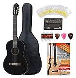 Yamaha C40 BL Guitarra clásica color negro (Incluidos funda,...
