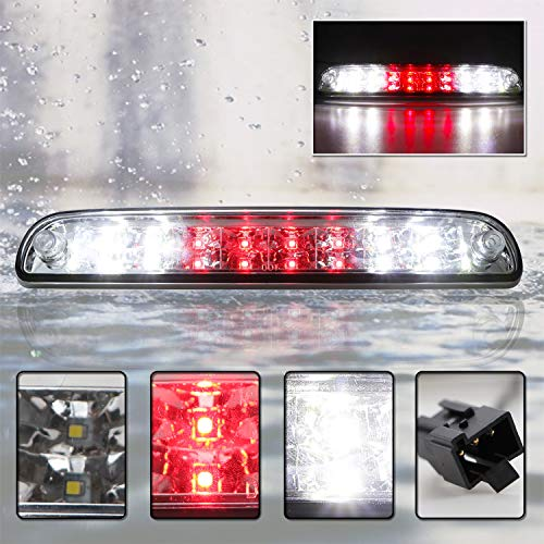 LED 3rd Third Tail Brake Cargo Light For Ford F-250 F-350 F-450 F-550 Super Duty Ranger Explorer Sport Trac Mazda B-Series (Chrome Housing Clear Lens)