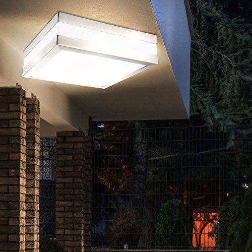 LED 10 Watt Decken Außen Lampe Leuchte Edelstahl IP44 Beleuchtung EEK A+