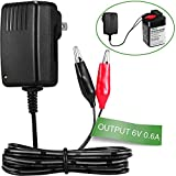 [UL Listed] 6-Volt Battery Charger for Moultrie Battery (Input 100-240V, Output 6V 0.6A)
