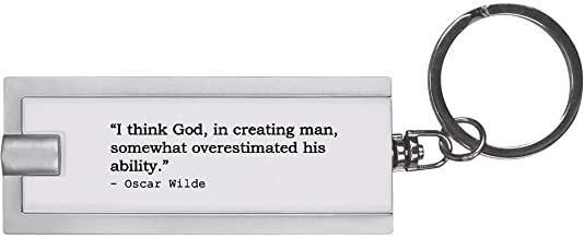 Funny Quote by Oscar Wilde Keyring LED Torch (KT00000554)