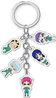 Saiki Kusuo Keychain, Anime Cosplay Saiki K Keychain Figure Cartoon Acrylic Pendent Keyring Accessory