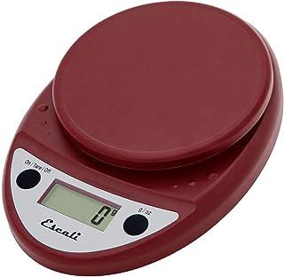 Escali P115WR Primo Digital Kitchen Scale 11Lb/5Kg, Warm Red, 8.5 x 6 x 1.5 inches