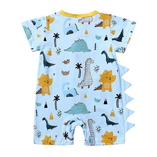 Babykleidung Säuglingsbaby Jungen Mädchen Süß Dinosaurier Drucken Ärmellos Strampler Jumpsuits Sommer Baby Spielanzug Bodys Einteiler Overall Baby Kleidung Allence