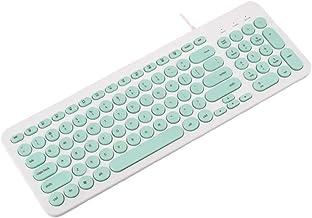 Teclado con cable, teclado compacto con cable USB compacto de Veeki, teclado ergonómico silencioso, escritura suave, funciona con Mac y PC, Windows 10/8/7/Vista/XP