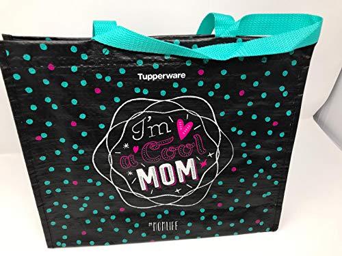 TUPPERWARE tas boodschappentas Mom opdruk tot 15 kg belastbaar wit groen Shopper zwembad handtas zwart roze