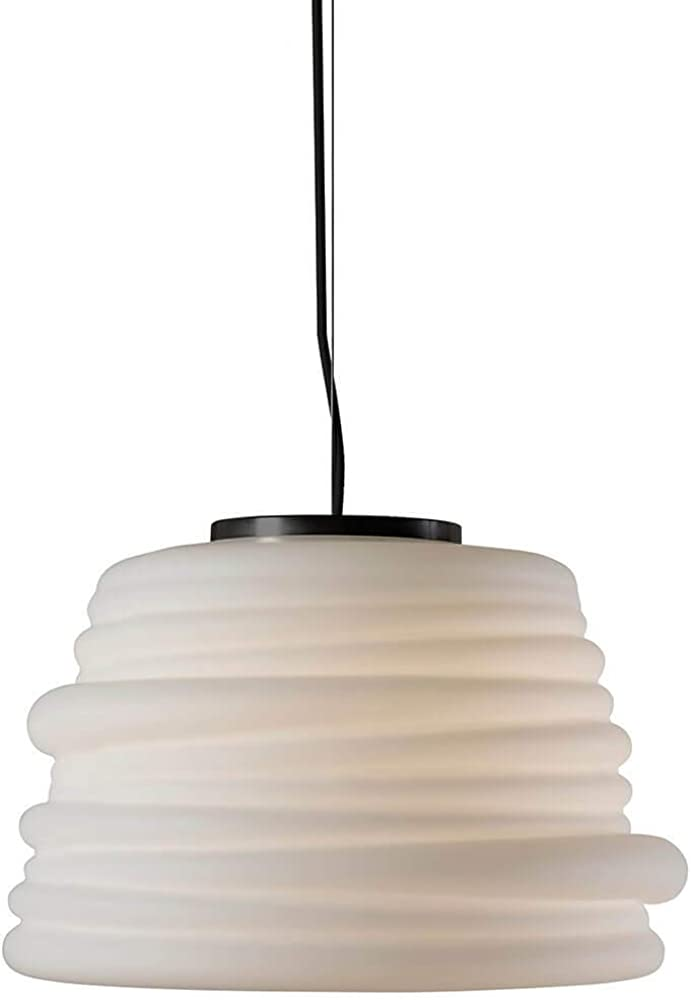 Karman bibendum , lampada led, a sospensione Ø35 cm, con paralume in vetro bianco satinato SE198BD INT