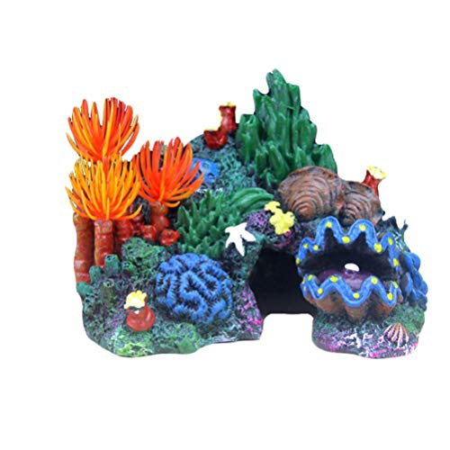 Gpzj Umgebungen Karibik Living Reef Aquarium Ornament Aquarium Harz Ornament Dekor