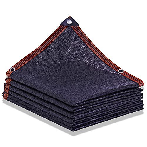 WBXZAL 95% Malla de Sombra Negra con Agujeros toldo Camping protección Solar Anti-UV Anti-envejecimiento para balcón jardín Invernadero vehículo Piscina sombrillas marquesinas y sombra-6x6m / 19x19ft
