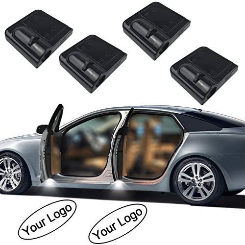 LZLRUN 4Pcs Custom Logo Wireless Projector Car Door Step Courtesy Welcome Lights