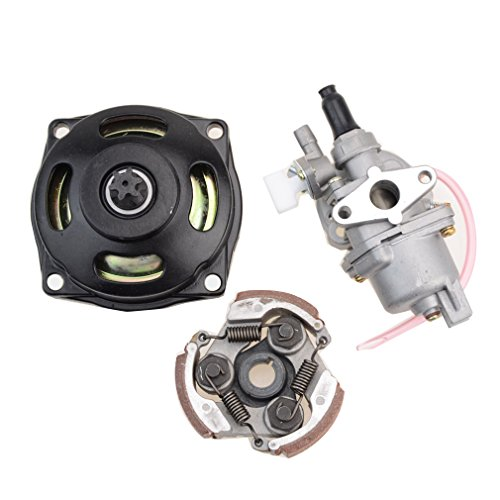GOOFIT 2 Tiempos 13mm Minimoto Carburador Motor con Cambios Embrague 23cc 33cc 43cc 47cc 49cc Pocket Bike Quad Desbrozadora Dirt Pit Bike Super Bike Motocross ATV