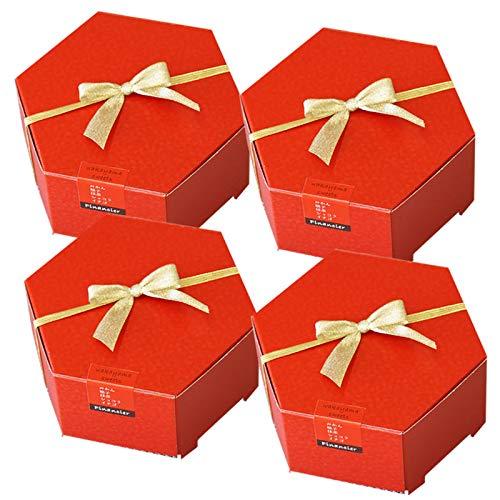 和歌山フィナンシェ10個入(5種のお味)×4箱 ショコラ、みかん、ゆず、イチゴ、抹茶が香る上品な焼き菓子 プチギフト対応無料メッセージカード付き 縁起がいい六角赤箱入!