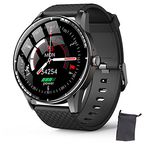 Smart Watch for Men, Full Touch Screen Activity Tracker Heart Rate Monitor Smartwatch, impermeável Men Sport Watch com cronômetro Step Tracker Sleep Tracker Android iOS