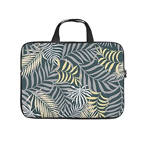 Funda para portátil con diseño de plantas tropicales, hojas de palmera coloridas de doble cara, funda protectora de neopreno, funda para portátil, funda divertida para portátil o tableta.