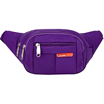 Pattern Cute Violet Cats On Running Lumbar Pack For Travel Outdoor Sports Walking Travel Waist Pack,travel Pocket With Adjustable Belt