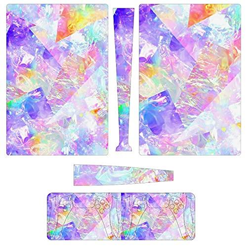 Colorido patrón láser PS5 (versión digital) juego consola pegatina para consola y...