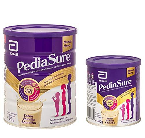 PediaSure Pack de 2 Complemento Alimenticio para Niños con Proteínas, Vitaminas y Minerales, Sabor Vainilla - 850 gr + 400 gr