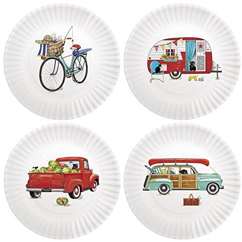 Mary Lake-Thompson Summer Camping 9-inch Melamine Plates, Set of 4