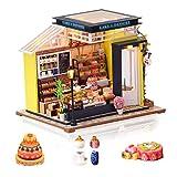 Cuteefun Casa Miniatura para Montar DIY Adultos Mini Habitación Hecha a Mano con Música a Prueba de Polvo y Muebles para Decoración, Regalos Artesanales Creativos para Mujeres (Cake Shop)