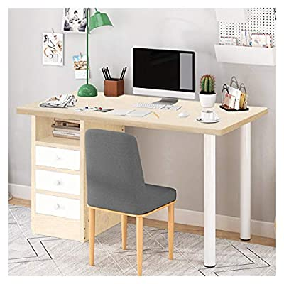 Erwazi Desk with Drawer, Computer Desk Desk with Storage Laptop Workstation, Study Writing Table Furniture with Drawers for Home Office