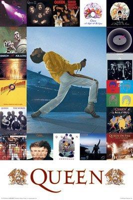 Queen Poster Album Covers Collage Rare HOT 24X36