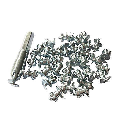 Marrkey Tires Studs/Screw Snow Carbide Spikes/Wheel Tyres Studs for Racing car,Bicycle,Bike,Fat Bikes, Scooters Tires,Running Shoes Boots in Winter 79.9mm 100PCS