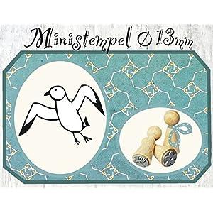 Zwergenstempel Möwe, Ø13mm, fast 400 lustige Stempel-Motive im Shop