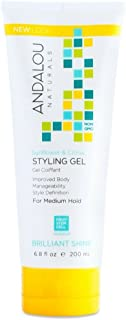 Andalou Naturals Sunflower and Citrus Brilliant Shine Styling Gel, 6.8 Ounce