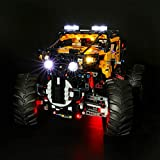 LIGHTAILING Set di Luci per (Technic Power Functions Fuoristrada X-Treme 4 x 4) Modello da Costruire - Kit Luce LED Compatibile con Lego 42099 (Non Incluso nel Modello)