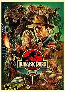 YOUCAIHUA Jurassic Park Movie Vintage Lienzo Pintura Carteles e Impresiones Cuadros de Pared para Sala de Estar decoración del hogar 40 * 60 cm sin Marco