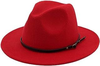 BESBOMIG Women's Men's Winter Fashion Felt Hat Winter Hat Fedora Hat with Wide Brim Felt Hat Outdoor Hat
