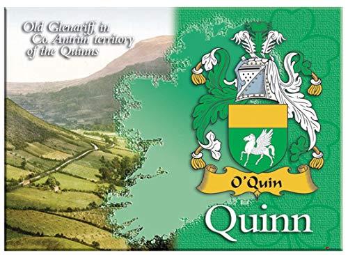 iLuv Quinn Irlandesi Cognome Souvenir Metallico Immagine Calamita da Frigo