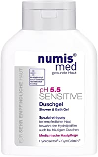 Bath & Shower Gel For Dry & Sensitive Skin Soap Free Imported From Germany Dermatologist Tested 5 Star Guarantee Vegan Low ph 5.5 Fast Acting Body Cleanser 200 ml by Numis Med